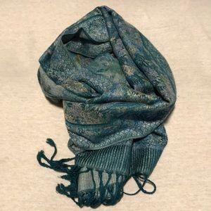 Beautiful blue-green scarf